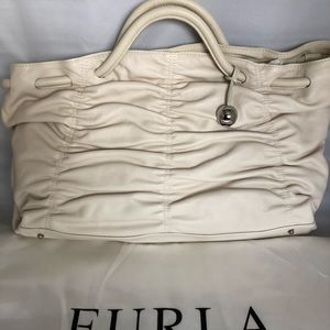 Furla Ruched Leather Tote